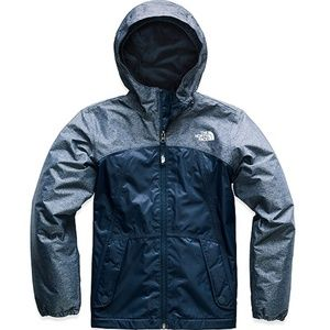 The North Face Girl's Blue Warm Storm Jacket Blue